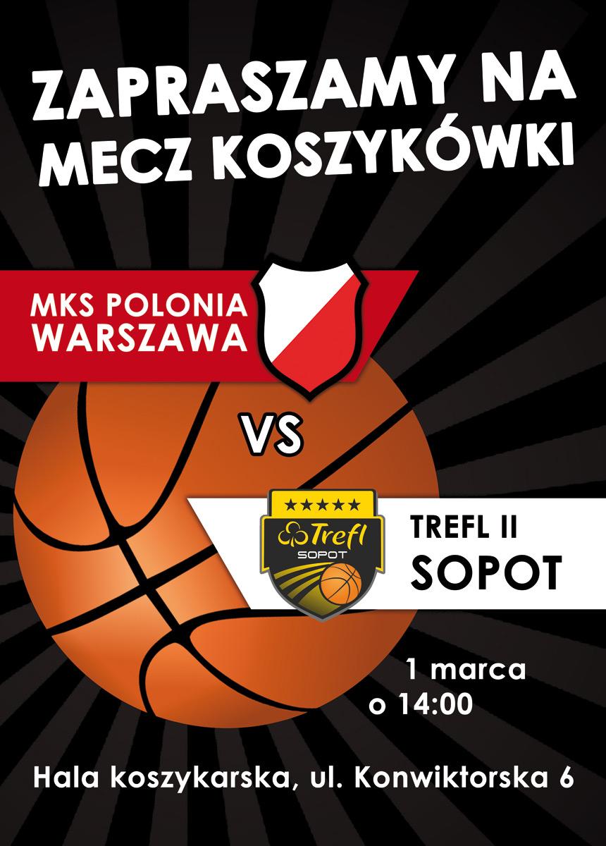 Plakat meczowy: Polonia - Trefl